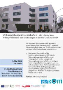 Wohnungsbaugenossenschaften – die Lösung von Wohnproblemen und Wohnungsnot in den Großstädten?