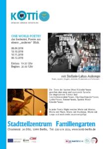 One world poetry @ STZ Familiengarten | Berlin | Berlin | Deutschland