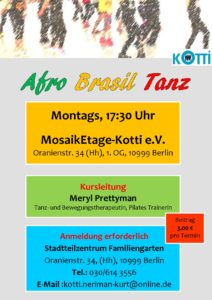 Afro Brasil Tanz - Anmeldung erforderlich @ STZ - MosaikEtage